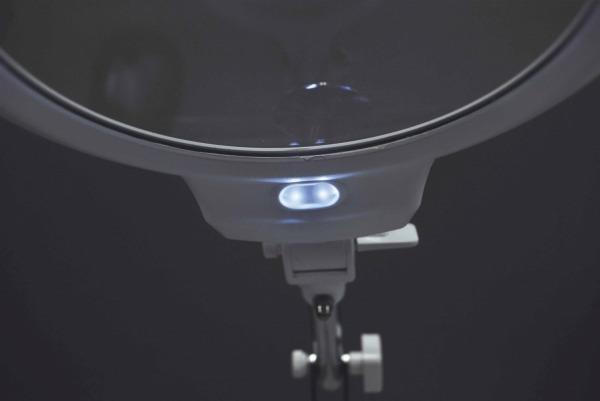 【5%OFFクーポン付き!】TSK スタンドルーペ 倍率2倍 レンズ径130mm サブレンズ5倍 LEDライト付き TS-7