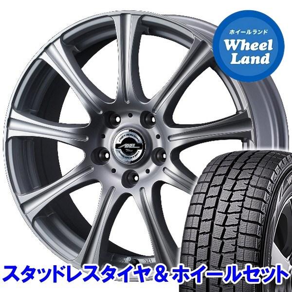 スバル レガシィ B4 BM9 アクセル スリー シルバー ダンロップ ウインターマックス01 WM01 205/60R16 16インチスタッドレスタイヤ&ホイールセット