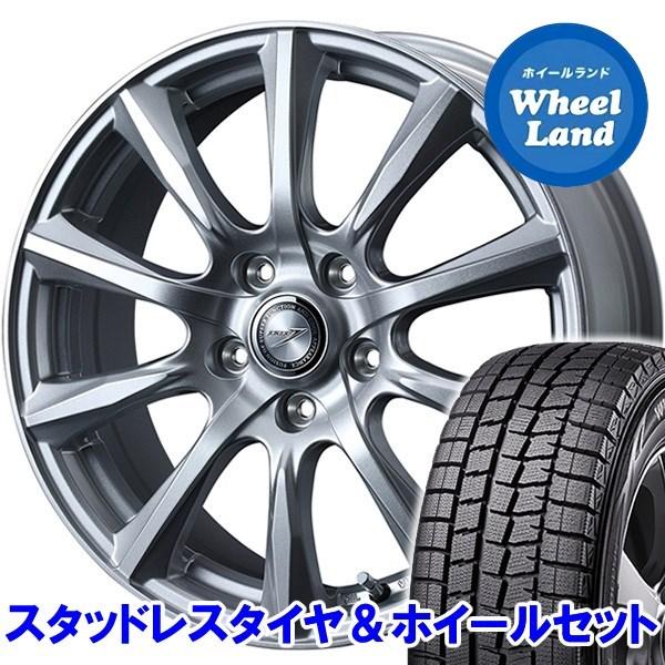 スバル レガシィツーリングワゴン BR9 WEDS ジョーカー ストレート シルバー ダンロップ ウインターマックス01 WM01 205/60R16 16インチスタッドレスタイヤ&ホイールセット