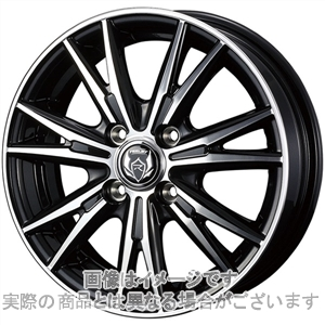 15インチ サマータイヤ セット【適応車種:クー(M400系)】WEDS ライツレー DK ブラックメタリックポリッシュ 5.5Jx15SINCERA SN832i 185/55R15