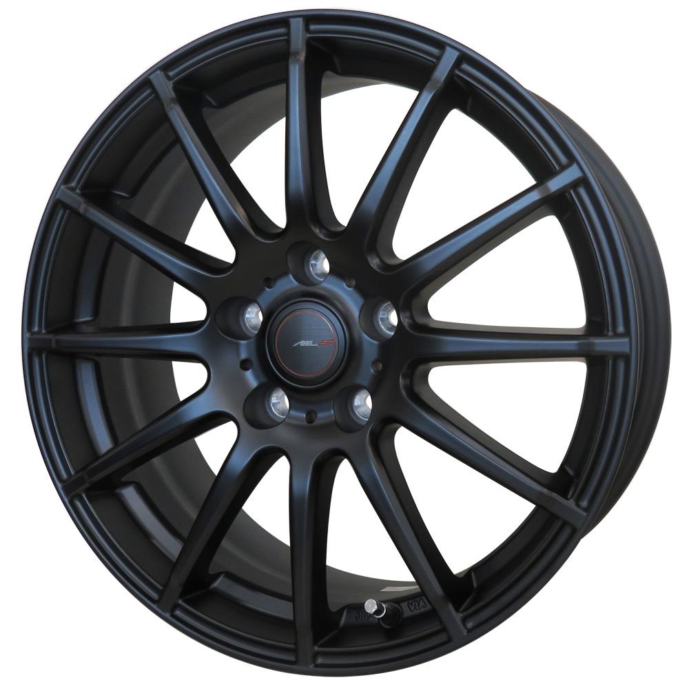 15インチ サマータイヤ セット【適応車種:ラクティス(120系 S以外)】AXEL  アクセルスポーツ S12 マットブラック 6.0Jx15エナセーブ EC202L 175/65R15