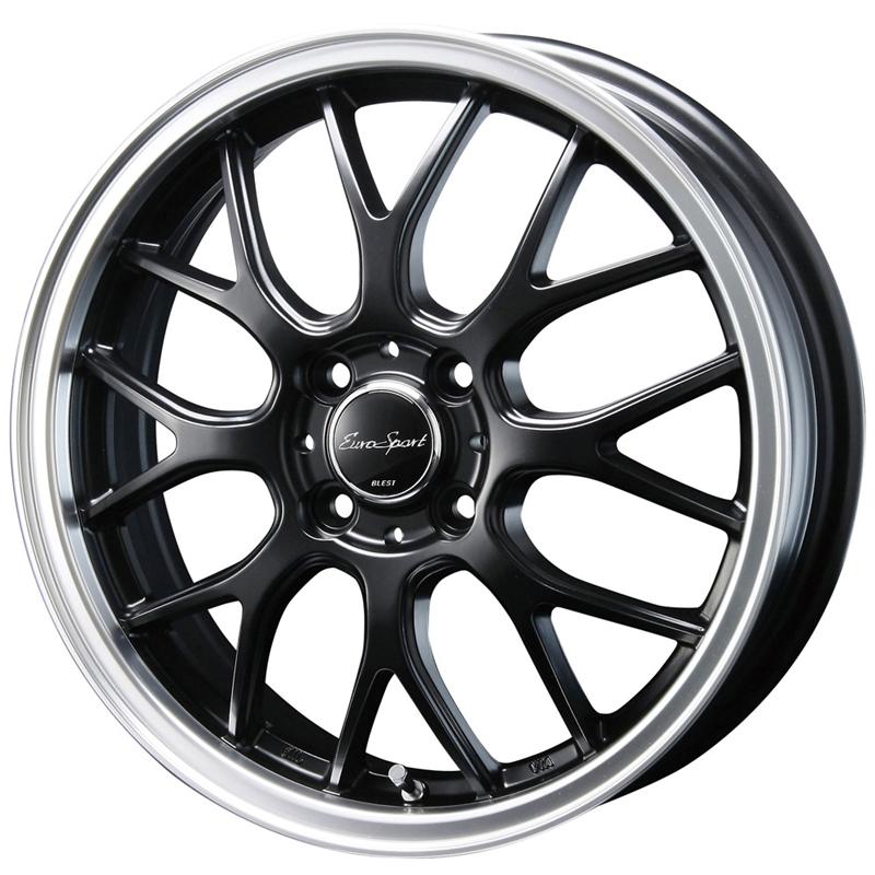 16インチ サマータイヤ セット【適応車種:イグニス(FF21S)】BLEST ユーロスポーツ タイプ805 セミグロスブラック 6.0Jx16エナセーブ EC202L 175/60R16