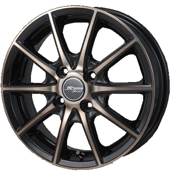 14インチ サマータイヤ セット【適応車種:フィット(GD系)】MONZA JAPAN Rバージョン スプリント ブロンズクリア/ブラックポリッシュ 5.5Jx14エナセーブ EC202L 175/65R14