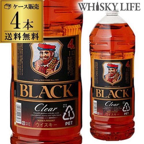 ニッカ ブラックニッカ クリア 37度 ペット 送料無料4L(4000ml)×4本ケース [ウイスキー][ウィスキー]whisky GLY