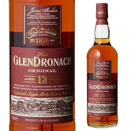 グレンドロナック12年 43度 国内送料無料 今ダケ送料無料 700ml 並行 ハイランド シングルモルト ウイスキー シェリー樽 熟成 whisky 長S ウィスキー
