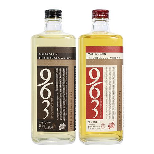 ブレンデッドウイスキー963 赤ラベル&黒ラベル2本セット [ウイスキー][ウィスキー][長S] japanese whisky