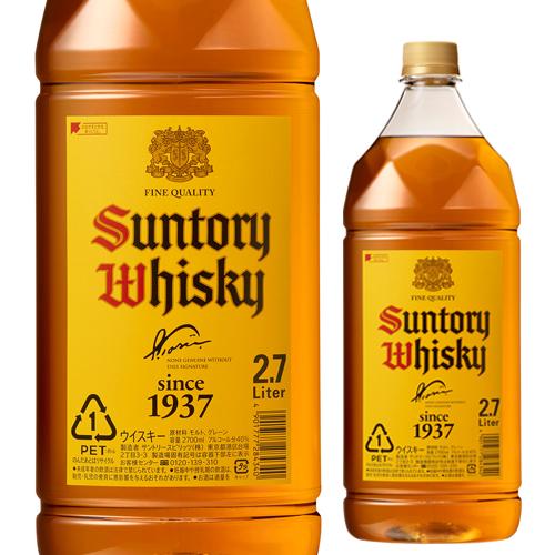 【送料無料】【ケース6本入】サントリー 角瓶 2.7L(2700ml)×6本[ウイスキー][ウィスキー]japanese whisky [長S]