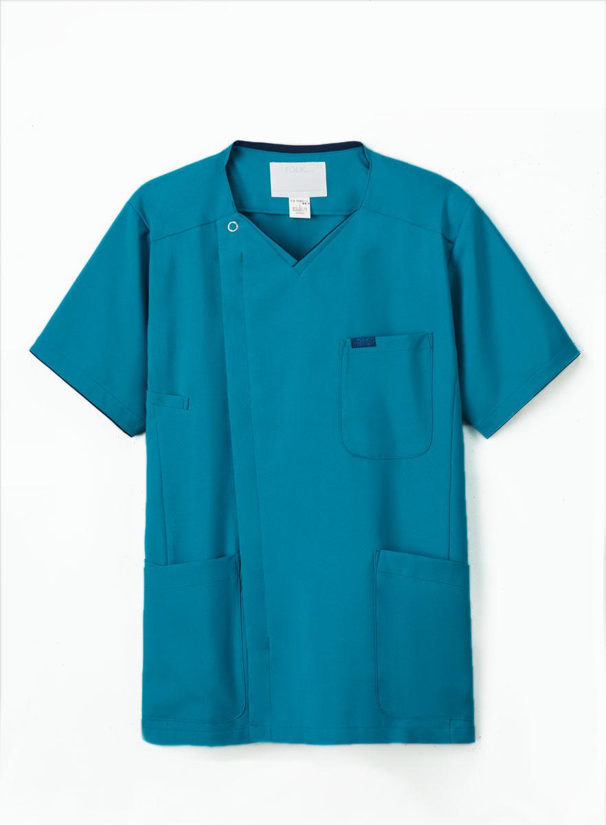 FOLK スクラブ 白衣 激安 メンズ フォーク 7028SC ZIP 半袖上衣 ジップスクラブ 大幅にプライスダウン 2019年新色登場 SCRUB 男性用