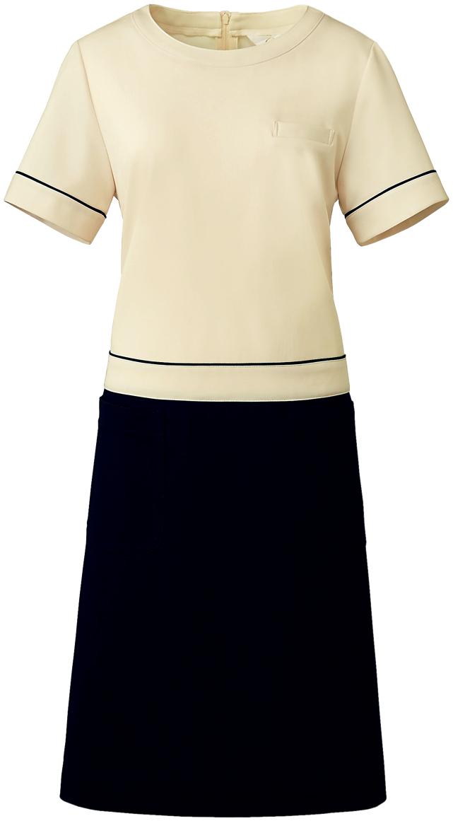 商店 Calala CL-0202 ワンピース ラッピング無料 白衣 エステ 半袖ナースウェア クリニック向け