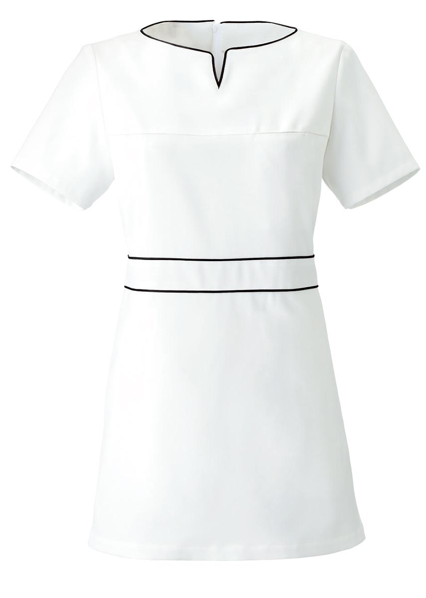 Calala CL 0185 チュニック 白衣 半袖ナースウェアエステ クリニック向けIWE2YD9H