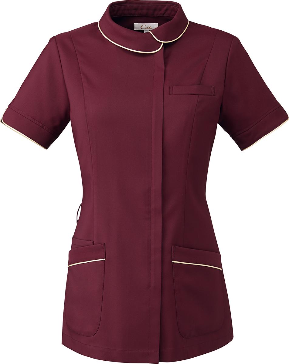 Calala CL-0227 レディースジャケット 白衣 倉 エステ 半袖ナースウェア クリニック向け 2015年新作商品 おすすめ特集