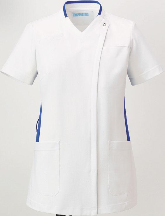 KAZEN 旧アプロン スクラブ 039-21 22 23 受注生産品 白衣 女性用 28 レディース 爆買いセール