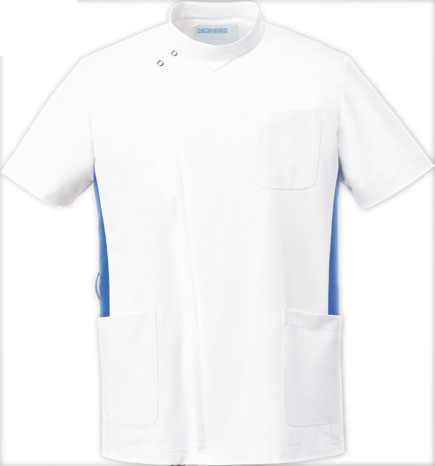 KAZEN 旧アプロン ジャケット 上衣 057-21 供え 22 半袖 メンズ 日本全国 送料無料 28 白衣 男性用 25