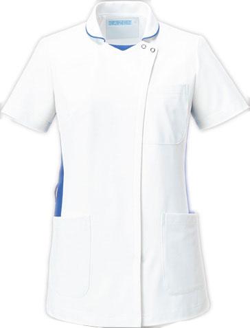KAZEN お見舞い 旧アプロン ジャケット 上衣 058-21 お値打ち価格で 22 23 白衣 28 半袖 レディース 女性用 25