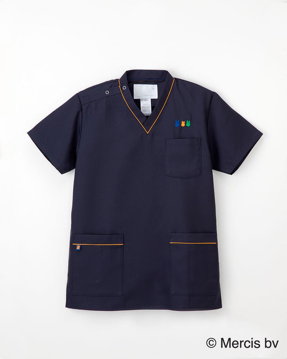 ナガイレーベン 白衣 MFT-5802 男女兼用スクラブ 半袖上衣 ミッフィーシリーズ スクラブ