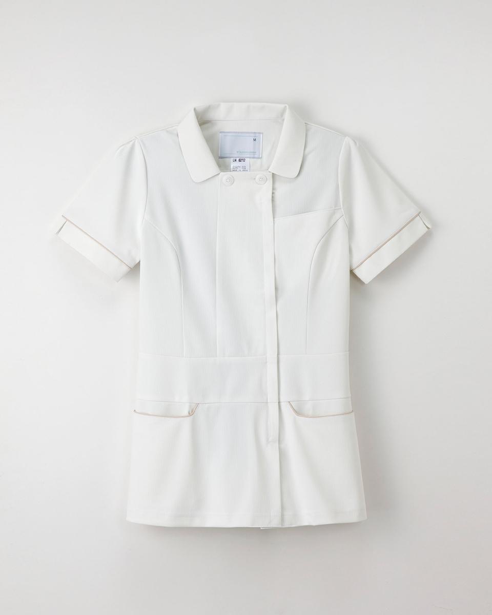 ナガイレーベン 商い LH-6212 レディース半袖上衣 白衣 Berry Seed℃ Beads ナースウェア 爆買いセール
