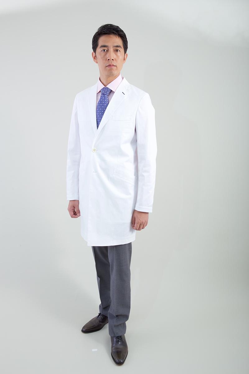 白衣 klug KM-001 ハイクラス ベーシックロングスリーブコート 男性用 メンズ 診察衣