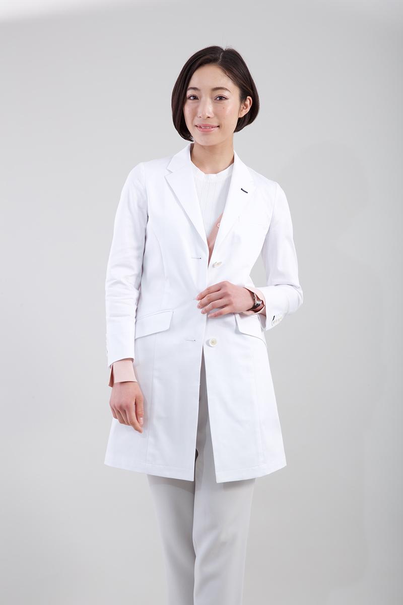 白衣 klug KW-003 ハイクラス ロング スリーブ コート 女性用 レディース 診察衣