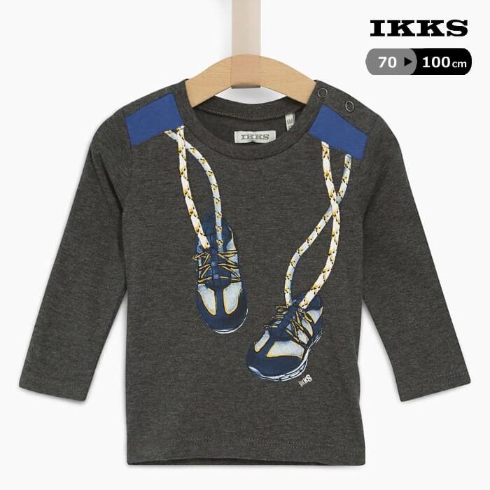 フランス直輸入 IKKS ベビー ロンT 長袖Tシャツ 開店記念セール 70-100cm 長袖 Tシャツ きれいめ おしゃれ 春 男の子 子供 キッズ 秋 捧呈 女の子