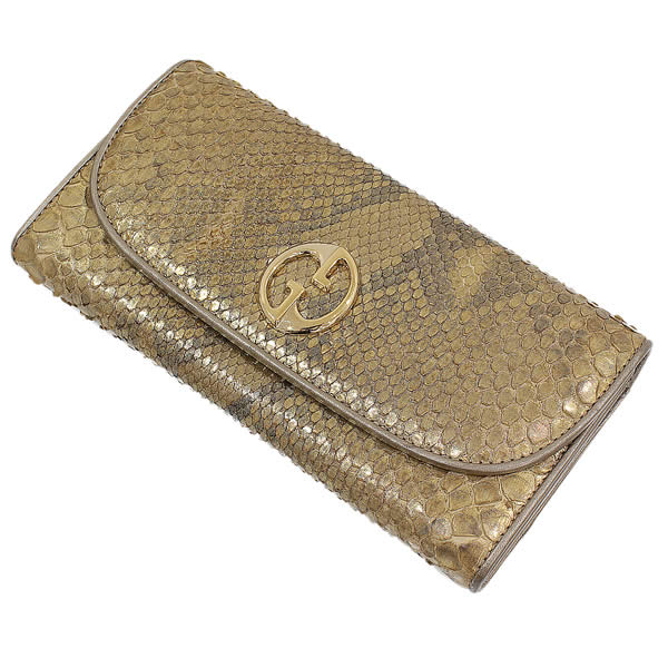 ab4124b2f194 NEO-NET: (Gucci) GUCCI double G D Tyr python leather long wallet box ...
