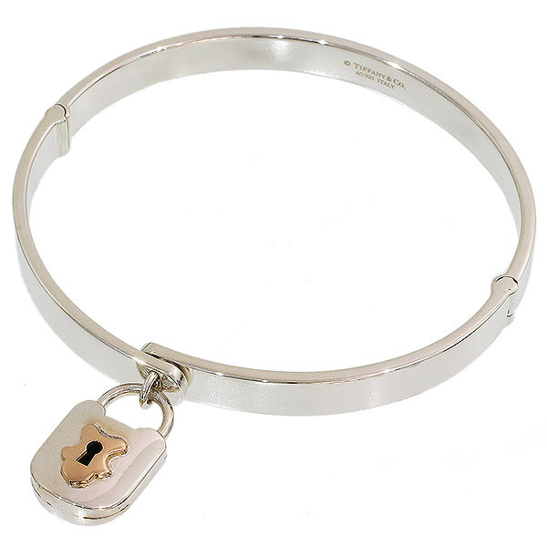 21569f57d NEO-NET: (Tiffany) Tiffany lock bangle SV925 X K18PG 16.5cm ...