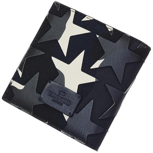 (ヴァレンティノ)Valentino スター デザイン カモフラ 二つ折り財布 箱【中古】