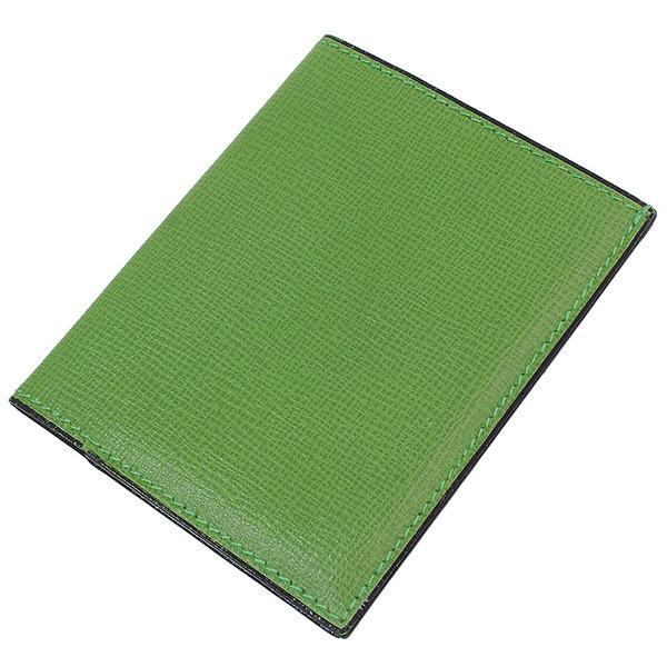 (ヴァレクストラ)Valextra シンプル レザー カードケース 緑【中古】