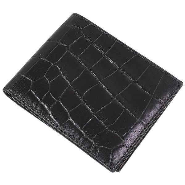 (エッティンガー)Ettinger クロコ調 レザー 二つ折り財布【中古】