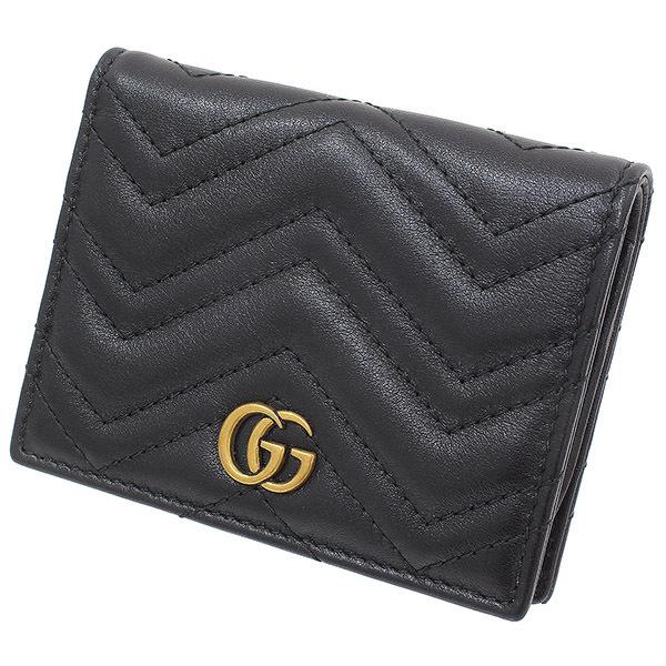 (グッチ)GUCCI GGマーモント デザイン レザー 二つ折り財布 箱袋【中古】