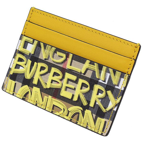 (バーバリー)Burberry グラフィティ チェック カードケース 袋【中古】