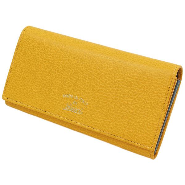 (グッチ)GUCCI スウィング レザー デザイン 二つ折り 長財布 黄 箱袋【中古】