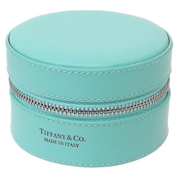 (ティファニー)Tiffany & Co. ラウンド レザー ジュエリーケース 箱袋【中古】