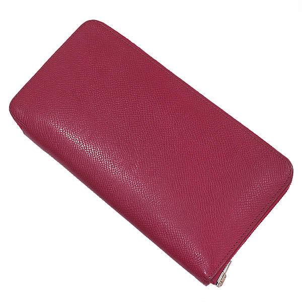 エルメス メーカー在庫限り品 HERMES アザップ ロング シルクイン 国際ブランド 長財布 N刻印 赤 中古