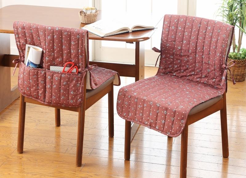 汚れやすいダイニングの椅子にうれしいはっ水加工 表面は水をはじくはっ水を施しています 背面に便利なポケット2個付き 蔵 あす楽対応 check ou 45x140cm はっ水加工キルト椅子カバー 1枚 k-04 販売実績No.1 椅子カバー ブラウン