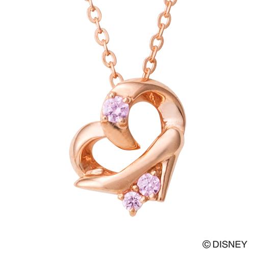 【Disney Series】ディズニー/シンデレラ/ガラスの靴 ハート ネックレス ピンク DI505PG white clover カップル