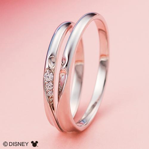 ディズニー マリッジリング ミッキー&ミニー/結婚指輪 マリッジリング 3~23号 シェアハート ペアリング DIPR001L&DIPR001M