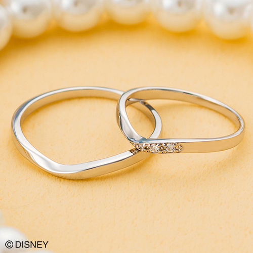 ディズニー マリッジリング「美女と野獣」結婚指輪 マリッジリング 3~23号 ペアリング DIPR003L&DIPR003M