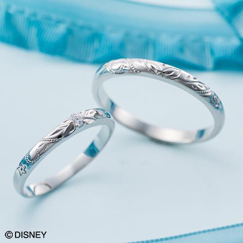 ディズニー マリッジリング「リトル・マーメイド」結婚指輪 マリッジリング 3~23号 ハワイアン デザイン ペアリング DIPR004L&DIPR004M
