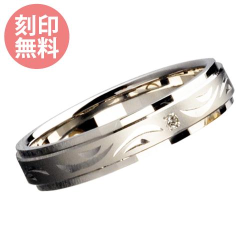【5~30号】刻印無料 手彫り ダイヤモンド リング K10WG 10金ホワイトゴールド WGR227WG 送料無料 代引き手数料無料