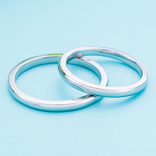 結婚指輪 マリッジリング 3~21号 プラチナ950 Pt950シンプル 甲丸 ストレートデザイン ペアリング 2mm WPR001&WPR001