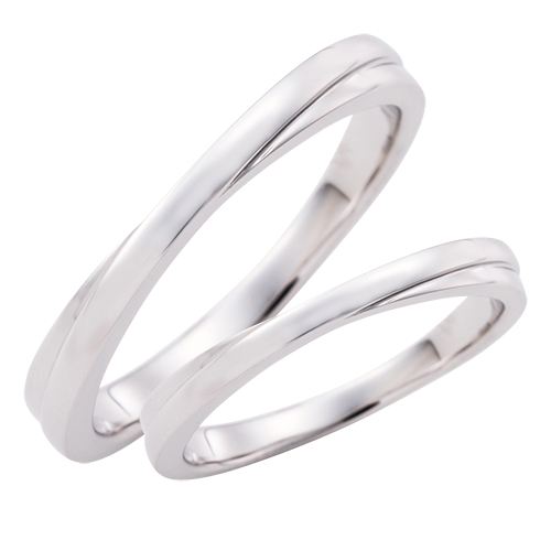 結婚指輪 マリッジリング 3~21号 プラチナ950 Pt950 クロスデザイン ペアリング WPR245&WPR245