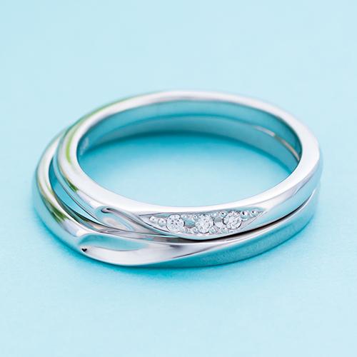 結婚指輪 マリッジリング 3~21号 プラチナ950 Pt950 ダイヤモンド 0.02ct シェアハートデザイン ペアリング WPR552&WPR553 white clover カップル