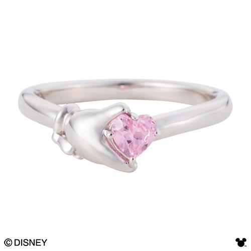 【Disney Series】ディズニー/ミニーマウス/ハンド ハート リング 指輪 ゴールド DI009L white clover カップル