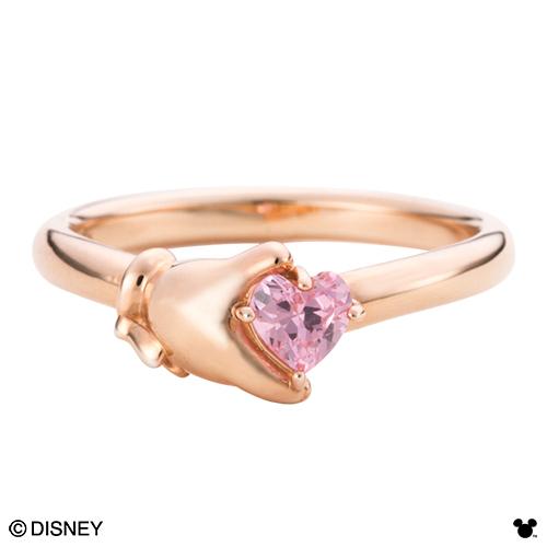 【Disney Series】ディズニー/ミニーマウス/ハンド ハート レディース リング 指輪 ゴールド DI009LPG 送料無料 代引き手数料無料
