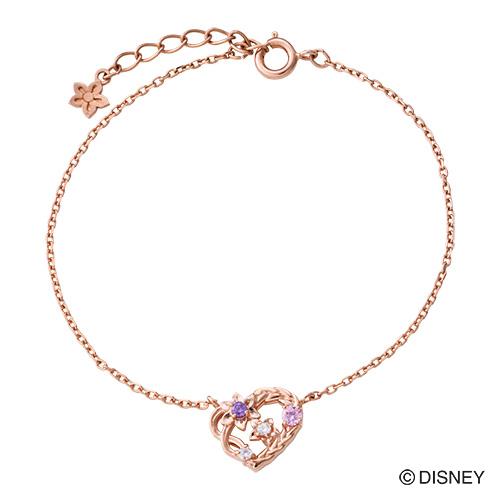 『塔の上のラプンツェル』 ラプンツェル ブレスレット ディズニー プリンセス Disney シルバー925 ハート 花 編み込み ピンク DI801PG white clover カップル