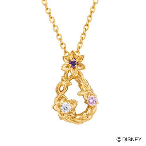 『塔の上のラプンツェル』 ラプンツェル ネックレス ディズニー プリンセス Disney シルバー925 ティアドロップ 編み込み ペンダント イエロー DI802YG white clover カップル