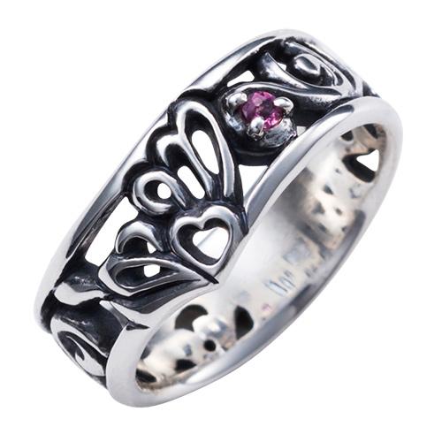 蝶 アゲハ 誕生石 シルバー925 いぶし トワル レディースリング 指輪 WAW-005 送料無料 代引き手数料無料