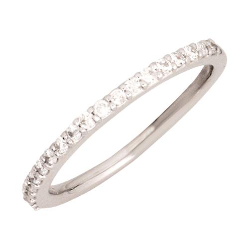 【5~15号】0.19ct ダイヤモンド ハーフエタニティ リング K10WG 10金ホワイトゴールド WGR011WG 送料無料 代引き手数料無料