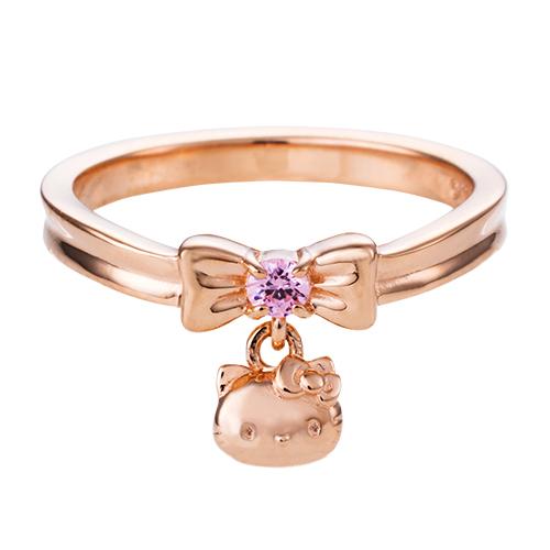 刻印無料 ハローキティ リボン レディース リング 指輪 サンリオ HELLO KITTY ピンク SAKT-R001PG 送料無料 代引き手数料無料