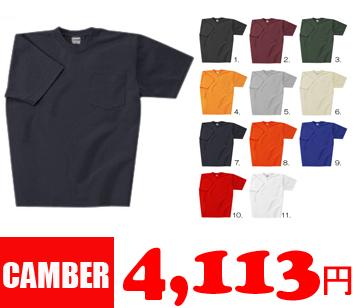 8oz マックスウェイト ポケットTシャツ【CAMBER】キャンバー/通販